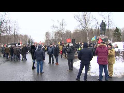 Марш в честь 30-летней годовщины вывода советских войск из Афганистана
