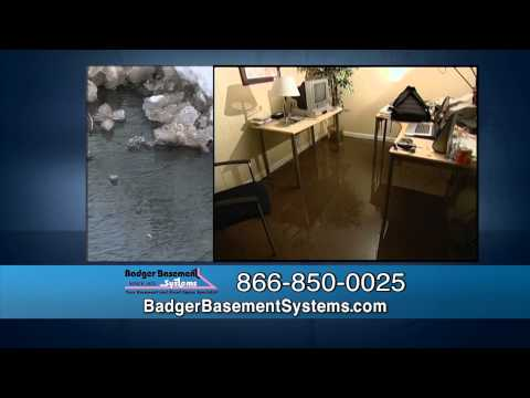 Since 1975, Badger Basement Systems has been protecting homeowners against the disastrous effects that melting snow and frozen ground can have on a homeowner's foundation and ultimately their basement.  We provide a variety of basement repair services to combat this problem and are there for you every step of them.  Don't let melting snow ruin your basement and contact our professionals today!