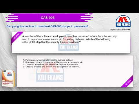 CAS-003 - CompTIA Advanced Security Practitioner (CASP) Real ...