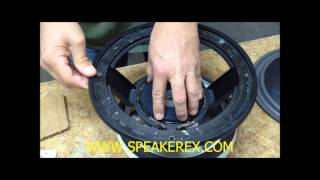 How to Recone a Speaker using Un-assembled parts