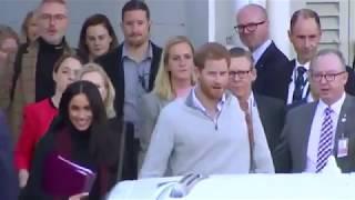 Duke & Duchess Of Sussex Arrive Sydney Australia 2018
