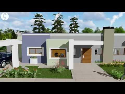 Planos de casas peque as modernas de dos pisos y de - Pisos en estepa ...