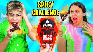 We ATE The SPICIEST CHIP in the WORLD!! Carolina Reaper Challenge 🥵