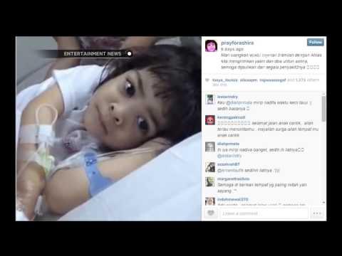 Video Ashira anak kecil yang meninggal dunia karena kanker perut