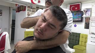 ASMR Turkish Barber First Facial Care And Hair Wash,Head,Neck,Back,Arm And Leg Massage