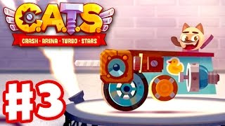 CATS: Crash Arena Turbo Stars - Gameplay Walkthrough Part 3 - Metal Parts and Spending Gems! (iOS)