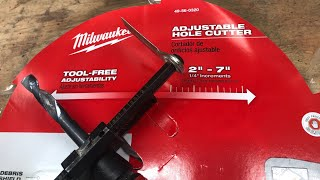 Milwaukee Adjustable Hole Cutter - Awesome Tools Under $30