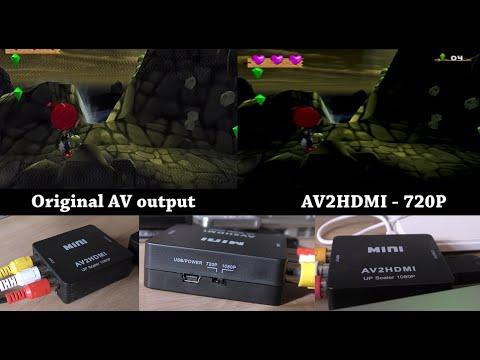 AV2HDMI [Video Comparison Test - PS2] Mini RCA AV to HDMI 1080P Upscaler