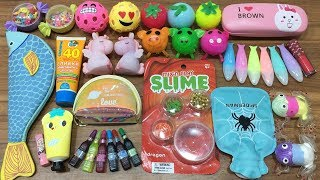 MIXING RANDOM THINGS INTO STORE BOUGHT SLIME!!! RELAXING SATISFYING SLIME