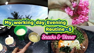 My Working day  Evening Routine -  5 / Snacks & Dinner / Evening Cooking Vlog