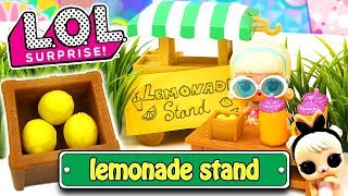 LOL Surprise Dolls Lemonade Stand! Starring Gogo Girl, Madame Queen and Cottontail Cutie!