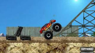 Monster Truck Demolisher Flash Game (AddictingGames.com) Gameplay