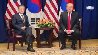 President Trump Participates in a Bilateral Meeting with the President of the Republic of Korea