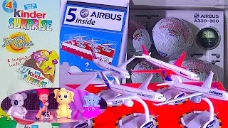 Kinder Surprise Eggs Looney Tunes and Airbus - Kids' Toys