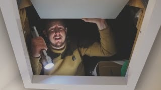 I Spent the Night in an Attic & What I Found Was Incredible (Sleep in a Loft Challenge)