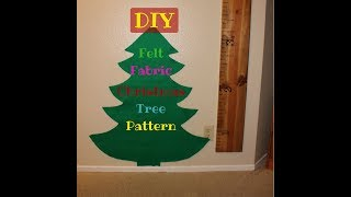 Christmas Tree Pattern | Felt Fabric | Cricut Design Space