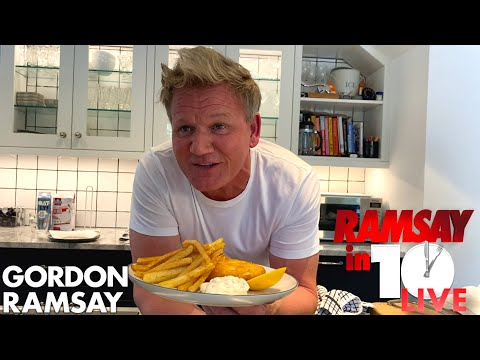 Gordon Ramsay Attempts To Make Fish & Chips at Home in 10 Minutes | Ramsay in 10