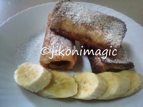 Toasti Mayai (French Toast) Stuffed With Caramelized Bananas – Jikoni Magic