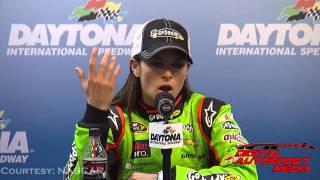 Danica Patrick Press Conference after Winning 2013 NASCAR Daytona 500 Pole