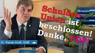 FDP stimmt im Bundestag für SCHULDENUNION!