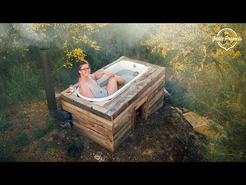 🛀Incredible Off-Grid Wood Fired Bath Tub COMPLETE! Portuguese Homestead Series