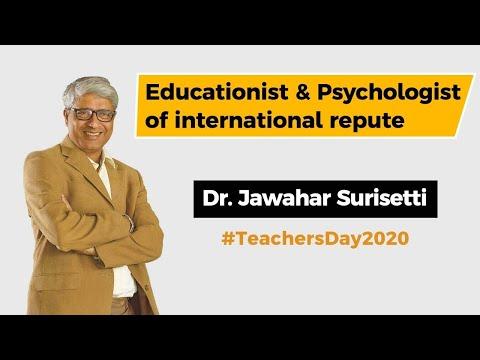 Teachers' Day 2020 special interview - Educationist of international repute Dr Jawahar Surisetti