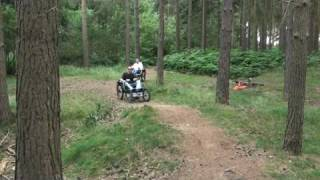 preview picture of video 'Boma Wheelchair - Out on the trail (2)'