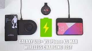 Samsung Galaxy S10+ vs Apple iPhone XS Max Wireless Charging Test