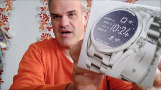 Review + Unboxing Michael Kors Smartwatch  - Access Bradshaw  (Model 2017 Android Wear 2.0)