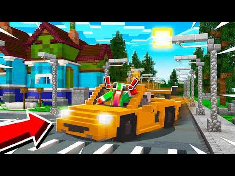 DRIVING MY FIRST REAL CAR IN MINECRAFT!!