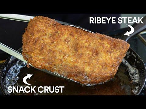 Deep Fried RITZ Crackers Steak Challenge!
