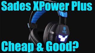 Headset gaming sades Xpower plus