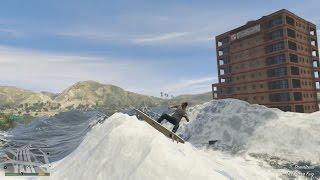 GTA 5 Mod - Lướt Sóng Trên Sóng Thần (Surfing The Tsunami Mod)