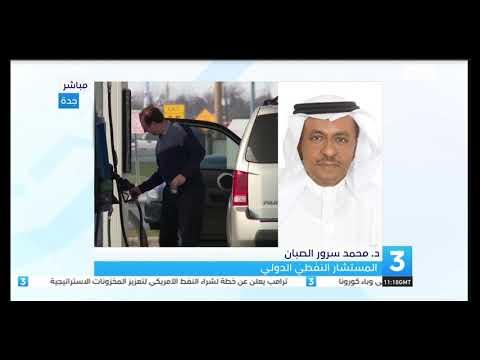 لقاء هاتفي للدكتور محمد الصبان في نشرة اخبار قناة الامارات حول اسباب انهيار اسعار الخام الامريكي