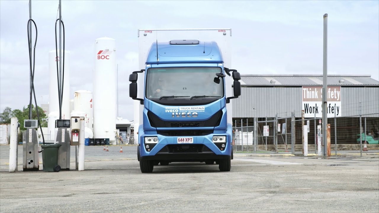 The IVECO Eurocargo with Jamie Whincup