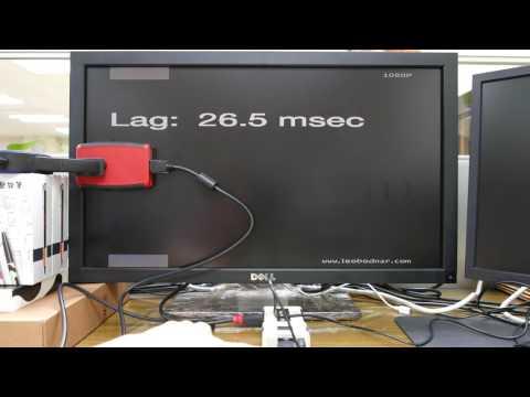 [lagtest] 1x4 HDMI Splitter latency time test