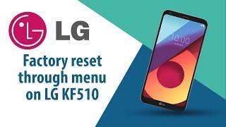 How to Factory Reset through menu on LG KF510?