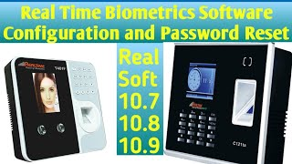 Realtime Biometrics Software Configuration and Password Reset with Detail
