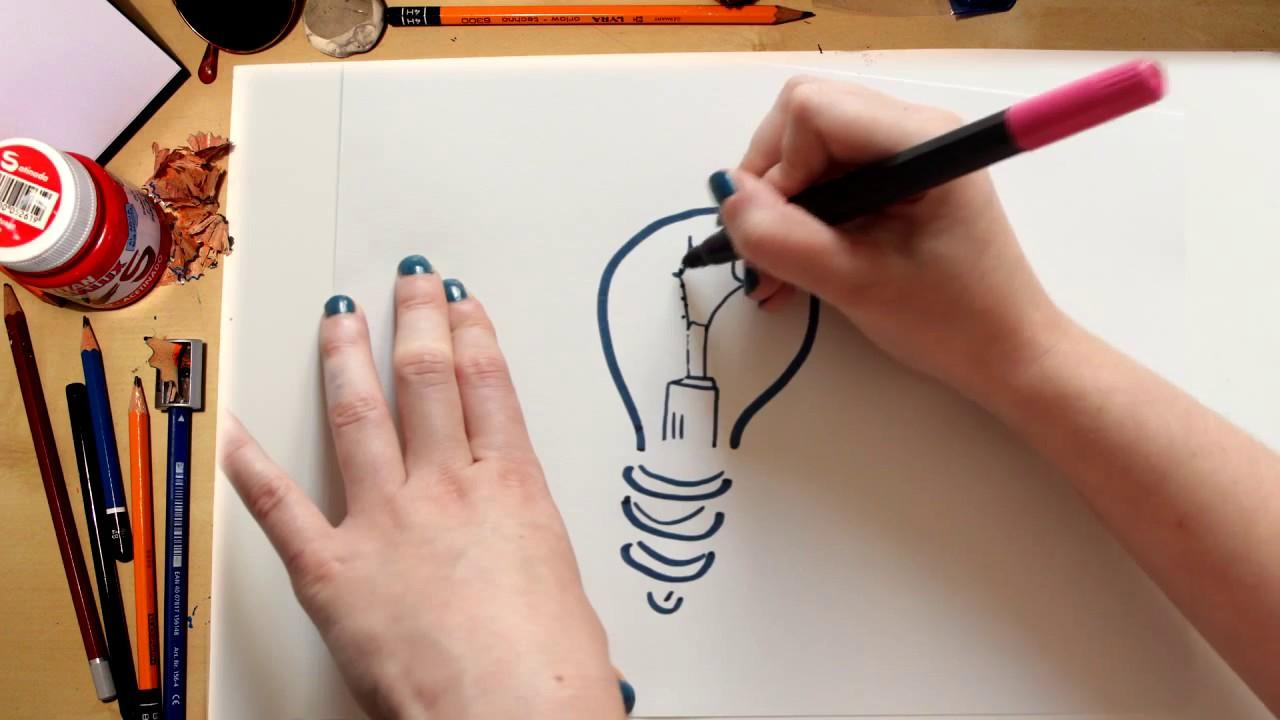 Como desenhar uma Lâmpada - desenhos para crianças