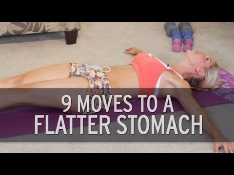 Just 9 exercises for a flat stomach!