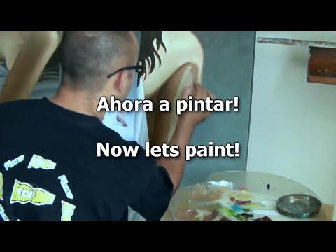 preparando colores para pintar piel al oleo preparing colors to paint flesh