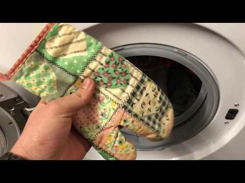 Topflappen Handschuhe waschen in Waschmaschine 60 Grad Wäsche Küchen Handschuhe reinigen Anleitung