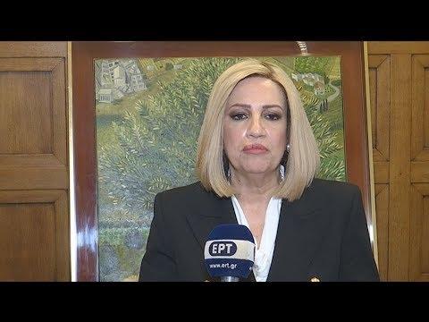 Φ. Γεννηματά: Να ληφθούν άμεσα μέτρα για τον κοροναϊό- Προτεραιότητά μας οι ανθρώπινες ζωές
