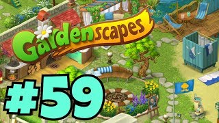 GARDENSCAPES NEW ACRES #59 Gameplay Story Playthrough | Area 10 New Castle Area Day 4