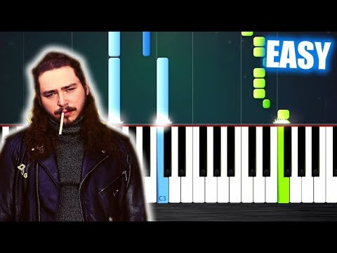 Post Malone - Better Now - EASY Piano Tutorial by PlutaX