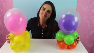 Passo a passo de um centro de mesa em balões para todos os temas! Lindo e fácil de fazer!