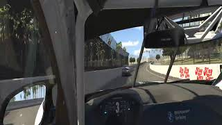 Iracing BMW GT4 at Long Beach in VR FPV