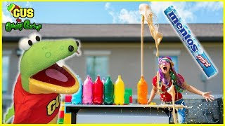 Crazy Coke and Mentos Challenge! Science Experiment for kids to do at home!