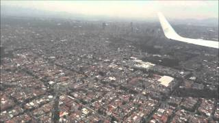 preview picture of video 'Landing at Mexico City'