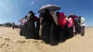 360度動画止まらないロヒンギャ難民の脱出